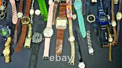 10+ Pound Lot Of Watches and Parts for Repair Metal Analog Dial Plastic Digital