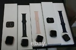 #14 Lot Of 5 Apple Watches Series 6 Gps+cell Act Lock Diffent Models Read