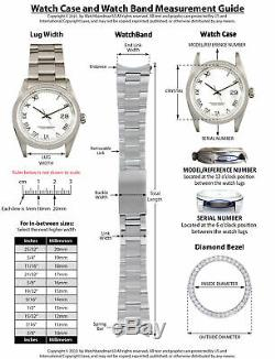 14k White Gold Fluted Bezel Watch Part For Rolex 34mm 15000, 15010, 15200, 15210