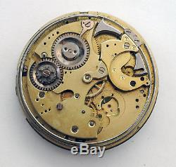 1800s Audemars Freres Minute Repeter Chrongraph Incomplite Pocket Watch withDial