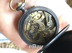 1920s Vintage Pocket Chronograph Watch Movement Valjoux 5 KVM Swiss FOR PARTS