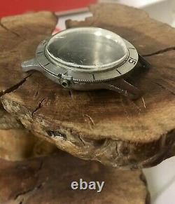 1950s vintage Zodiac Sea Wolf watch case ref. 699 damaged for parts or repair