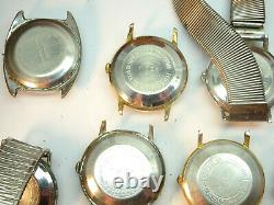 1960'-1970's Timex Automatic Watches For Restoration Or Parts Several Running