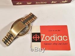 1960's Zodiac Automatic Wristwatch SST 36000 High Beat With Box Original+Beauty