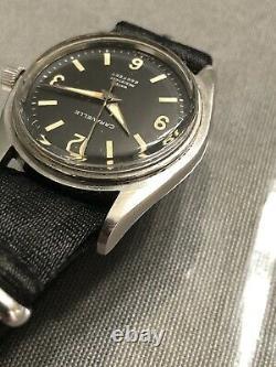 1966 Caravelle Seahunter N0 Devil Diver 666 Watch Running But Unoriginal Parts