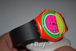1984 Swatch Vintage Watch GO-001 BREAKDANCE Not working Sold As-Is Collector's