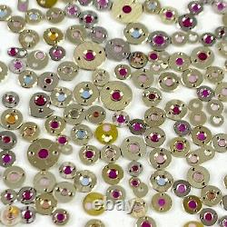 25 Cap Jewels Settings Watch Parts Steampunk For Repair Watchmaker Lot