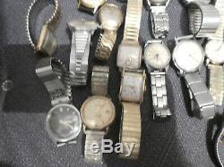 31 Stück Konvolut alte Armband Uhren mechanisch zum basteln für Flohmarkt