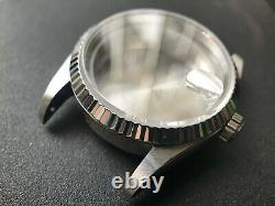 36mm Fluted Bezel Datejust Watch Case With Drilled Through Lug Fit Eta2824 Nh35