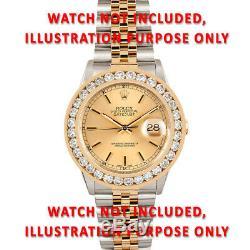 4.75ct Channel Set Diamond Bezel Watch Part 14ky For Rolex Datejust, President