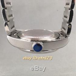 41mm Fit Miyota 82series, ETA 2836/2824, Mingzhu 2813 Blue Bezel Watch Case P706