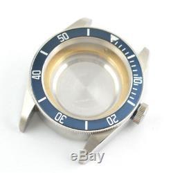 41mm Sapphire Glass Aluminum Bezel Watch Parts Case Dial fit ETA 2824 2836 C057