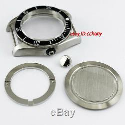 41mm Watch Case Black Bezel Fit ETA 2836, Mingzhu 2813, Miyota 82series P701