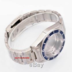 41mm blue Bezel 316L Watches Case Fit ETA 2836 2824 Miyota8215 821A movement
