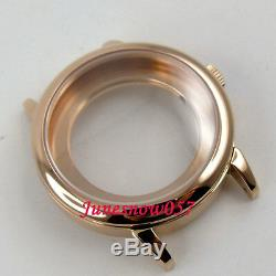 41mm fit ETA 2824 2836 movement gold plated 316L stainless steel watch case C69