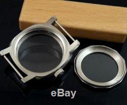 44mm stainless steel watch CASE fit eta 6497 6498 ST36 HAMILTON 917 921 movement