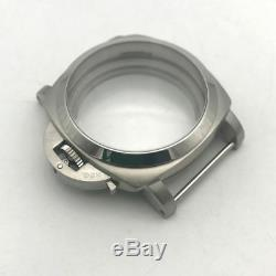 47mm 316L Stainless Steel Watch Case For ETA 6497 6498 Seagull ST36 Movement