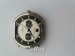 47mm Hamilton Chronomatic Fontainebleau Cronograph Watch Case, dial, hands, Buren