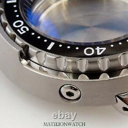 47mm Watch Case Parts 200M Waterproof Fit For NH35A SKX007 SBBN031 C3 Lume Dot
