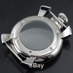 48mm Parnis SS Men watch Case Radian glass fit ETA 6497/ 6498 /ST3600 Movements