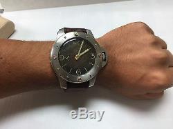 8 Days Homage of Vintage Panerai Egiziano Angelus 190 Cal Movement 60mm Alarm