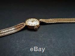 A Ladies 9ct Solid Gold Rolex Tudor Swiss Mechanical Gold Bracelet Wrist Watch