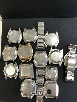 A Lot Of 13 Watches Vintage SEIKO automatic For Repair Or As Parts R15