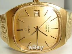 A Stunning Vintage Gentleman's Omega de Ville Quartz Wrist Watch Not Working