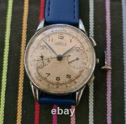 ANGELUS CHRONOGRAPH VINTAGE RARE WATCH- Cal. 215 1940's-FOR PARTS/REPAIR