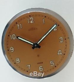 ANGELUS Vintage Clock for parts (8 days movement often used on PANERAI) military