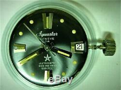 AQUASTAR Geneve SA Diver Automatic 200 Metres 600 Feet Swiss Made vintage 80s