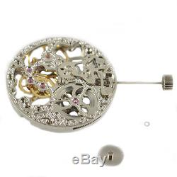 Analog 17 Jewels silver Full Skeleton 6497 Hand Winding movement Parnis 005