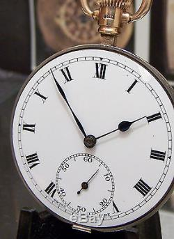 Antique 20's Rolex 17 Jewel Chronometer Pocket Watch Movement + Gold Fittings