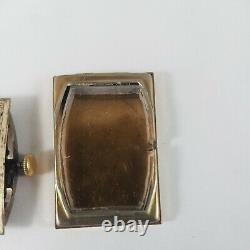Antique Cartier Tank Mans Watch, working movement, for parts only