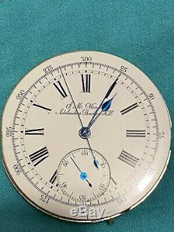 Antique J. M. Wendt Adelaide Broken Hill Pocket watch movement Chronograph