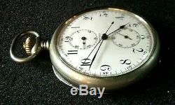 Antique Longines 2 Register Pocket Watch Chrono functions not working properly
