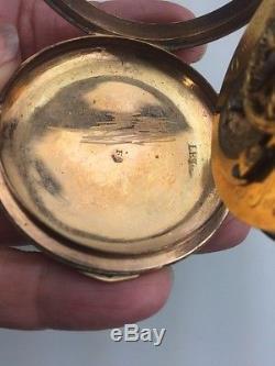 Antique Romilly De Lion Enamel pocket watch For Parts Or Repair