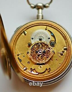 Antique Silver 1/4 Repeater with Automation Fusee