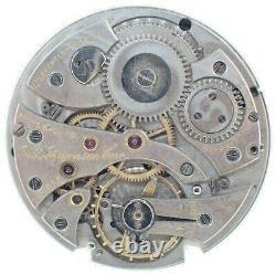 Antique Very Thin Jules Jurgensen 17J Wind Pocket Watch Movement for Parts