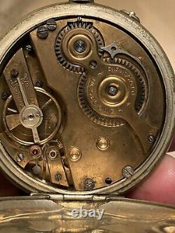 Antique pocket watch Systeme Roskope Not Working Rare