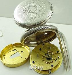 Antique silver pocket watch John Forrest, London 1897 NOT WORKING NEEDS WORK