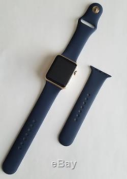 Apple Watch 42mm Aluminum Midnight Blue Sport Band STUCK ON HELP SCREEN Read