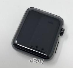 Apple Watch 42mm Black Stainless Steel Case (2015) Broken Release Button Read