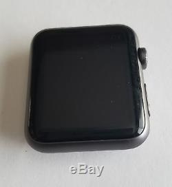 Apple Watch 42mm Space Gray Aluminum Case wt TOUCHSCREEN ISSUE & NO STRAP Read
