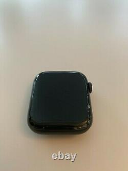Apple Watch 5, 44MM In Black Stainless Steel, Cracked Screen For Parts / Repair