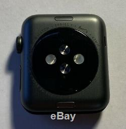 Apple Watch Nike+ Series 3 42mm Space Gray Aluminum Case Cracked Screen Glass