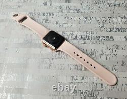 Apple Watch SE 40mm Rose Gold GPS Bluetooth Smartwatch w Band A2351 AS IS Locked