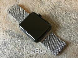 Apple Watch Series 2 42mm Space Black Stainless Steel Case Milanese Loop