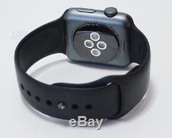 Apple Watch Series 2 Space Gray Aluminum Case 42mm Black Sport Band MP062LL/A