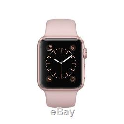 Apple Watch Series 3 38mm Gold Aluminium Case with Pink Sand Sport Band, DEMO